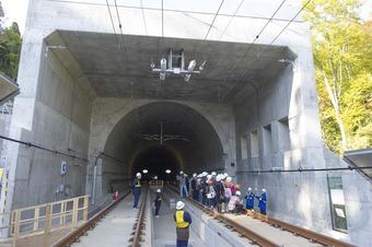 北海道新幹線 > 北海道新幹線高架橋レールウォークを開催しました